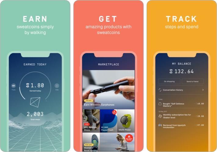 Sweatcoin iOS Workout App Screenshot
