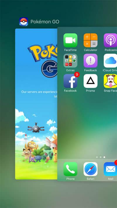 Swipe Up Pokemon Go on iPhone