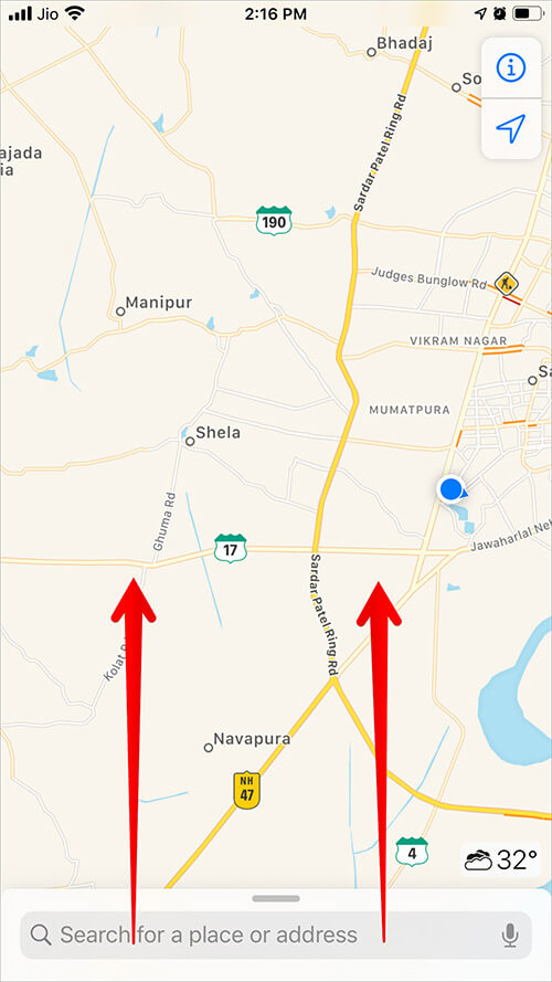 Swipe Up to Open Google Maps in App Switcher on iPhone