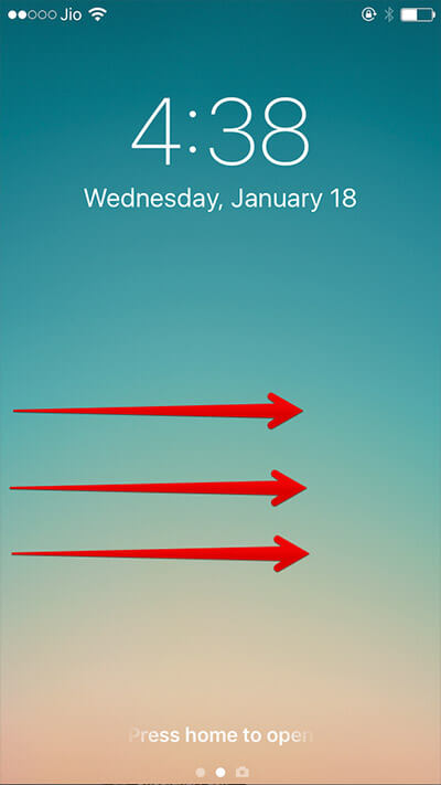 Swipe iPhone Screen from Left to Right