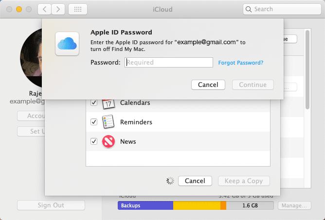 Switch Apple ID on iMac or MacBook Pro