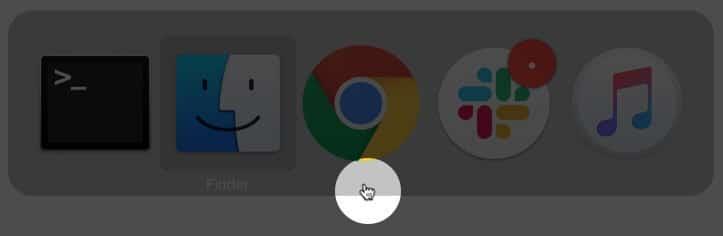 Wechseln Sie zwischen verschiedenen Apps, um den verschwundenen Mauszeiger in macOS zu verschieben
