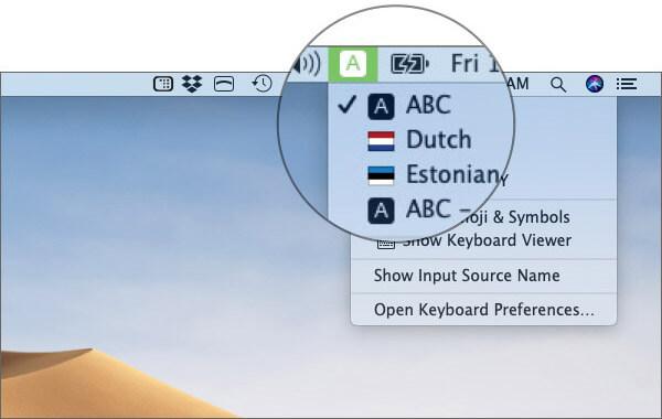 Switch Between Keyboard Layouts on Mac