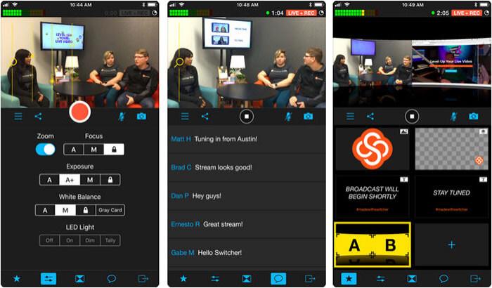 Switcher Studio iPhone and iPad App Screenshot