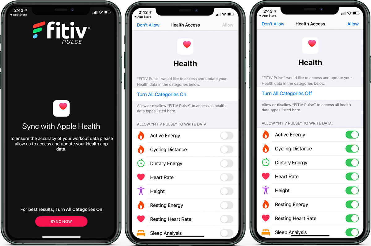 Sync Apple Health App with FITIV on iPhone