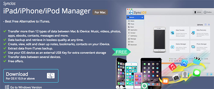 SynciOS iPhone and iPad Manager