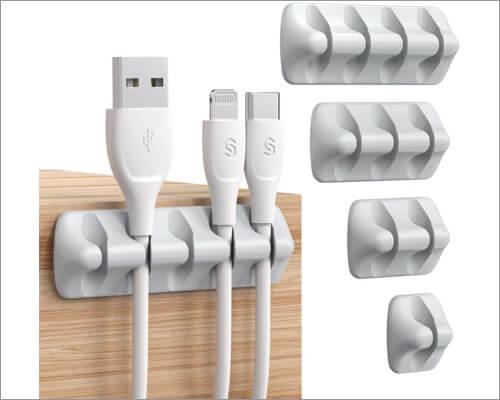 Syncwire self-adhesive USB cable management clips