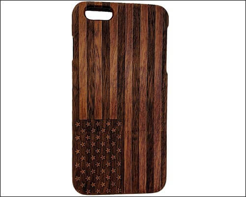 Szwisechip Wooden Case for iPhone 8