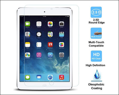 TANTEK 2018 iPad 9.7-inch Tempered Glass Screen Protector