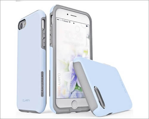 TEAM LUXURY Shock-Absorbent Case for iPhone SE 2020