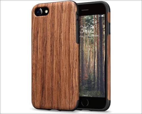 TENDLIN Wooden Case for iPhone SE 2020