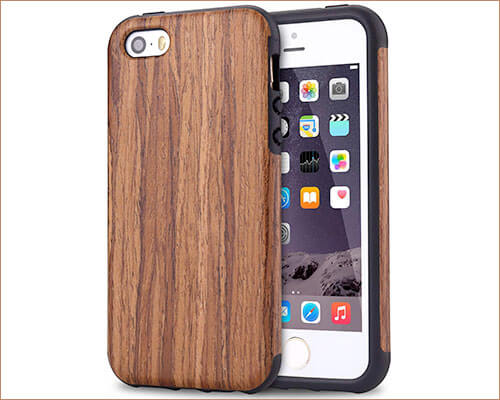 TENDLIN iPhone SE, 5s, and iPhone 5 Wooden Bumper