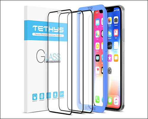 TETHYS iPhone Xs Tempered Glass Screen Protector