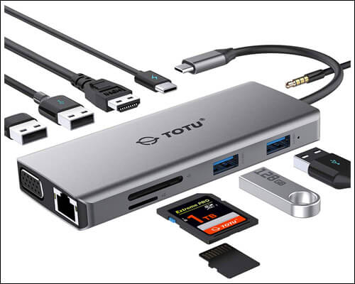 TOTU USB C Multiport Adapter for Macbook Pro