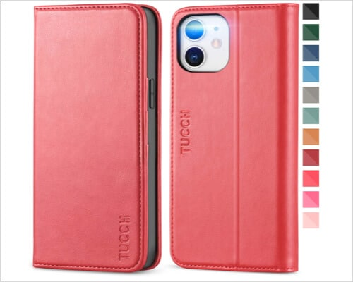 TUCCH TPU Folio Case for iPhone 12, 12 Pro, 12 Pro Max