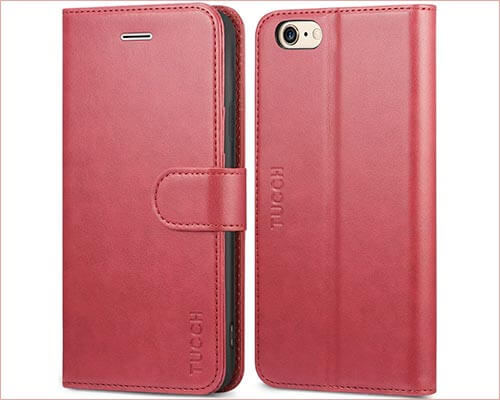 TUCCH iPhone 6s Leather Wallet Case