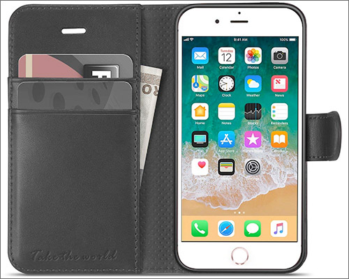 TUCCH iPhone SE, 5s, and iPhone 5 Wallet Case