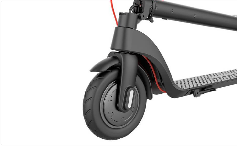 TURBOANT X7 Has a large 8.5 Tubeless Pneumatic Front and Rear Tires