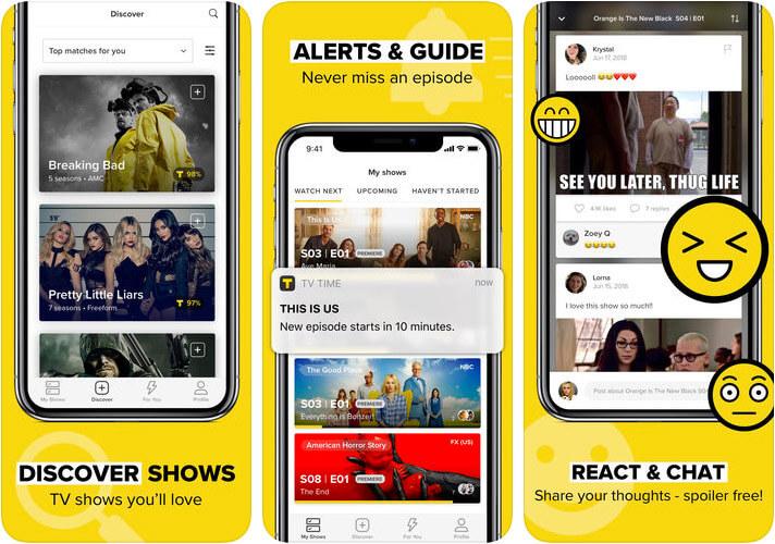 TV Time iPhone and iPad App Screenshot