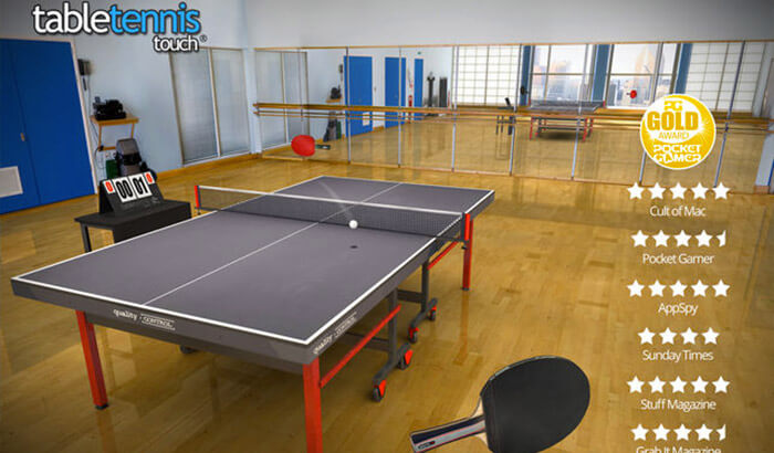 Table Tennis Touch Sports iPhone and iPad Game Screenshot