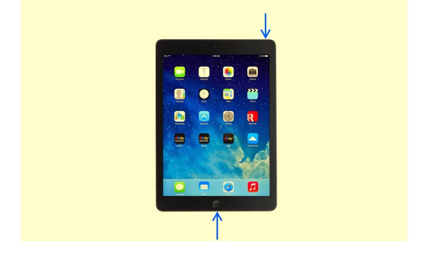 Take Screenshot on iPad with Touch ID