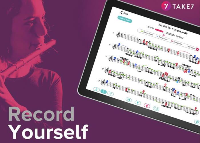 Take7 iOS Flute Learn App Screenshot