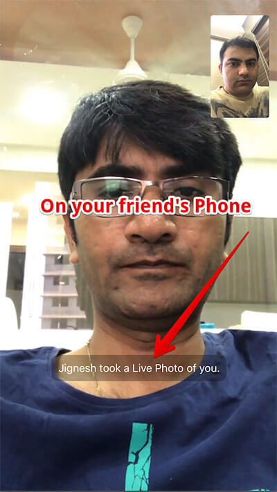 Taking Live Photos from FaceTime Call in iOS 11 on iPhone