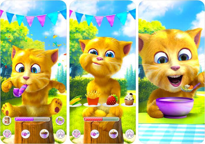 Talking Ginger 2 iPhone and iPad Virtual Pet App Screenshot