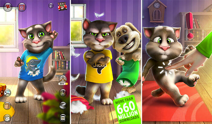 Talking Tom Cat 2 iPhone and iPad App Screenshot