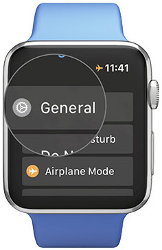 Tap General in Settings on Your Apple Watch
