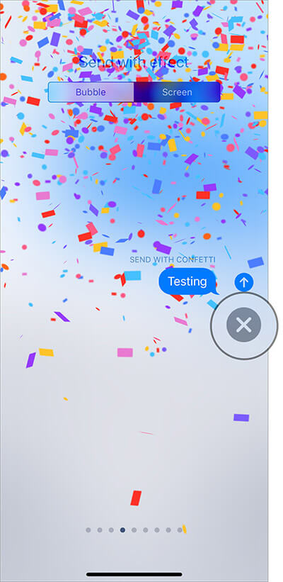 Tap on Cancel button in iMessage on iPhone and iPad