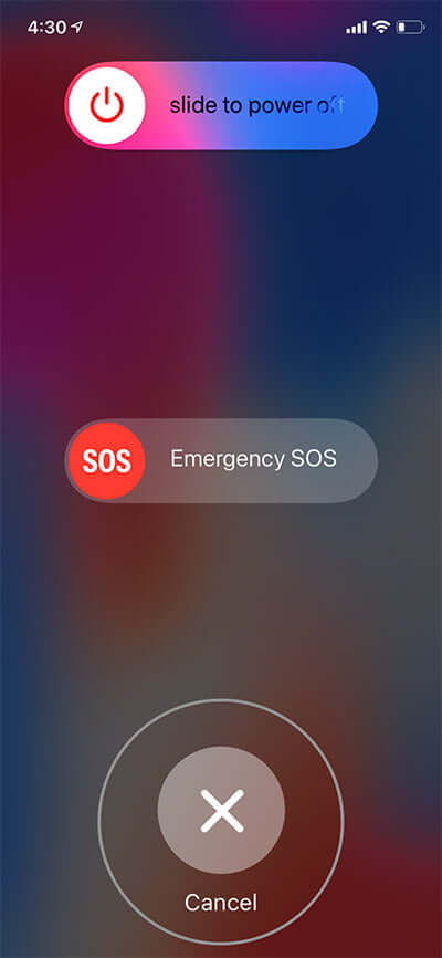 Tap on Cancel to Temporarily Disable Face ID