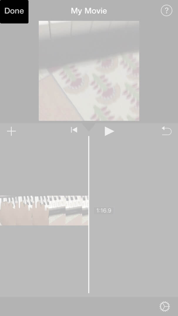 Tap on Done to Export Merge Video on iPhone