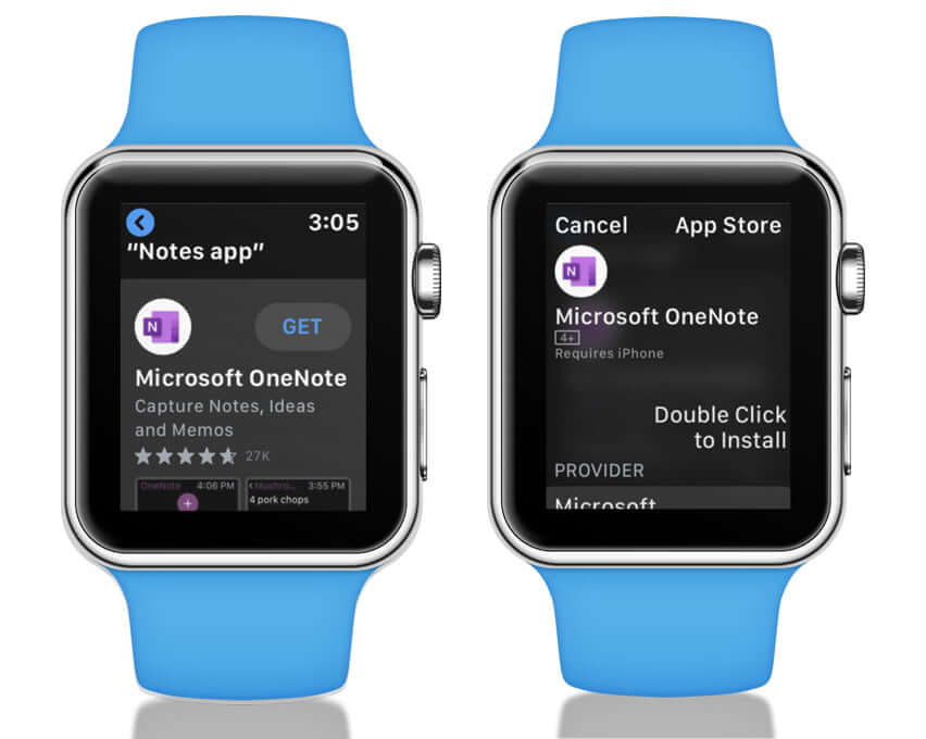 Tap on Get to Install App on Apple Watch