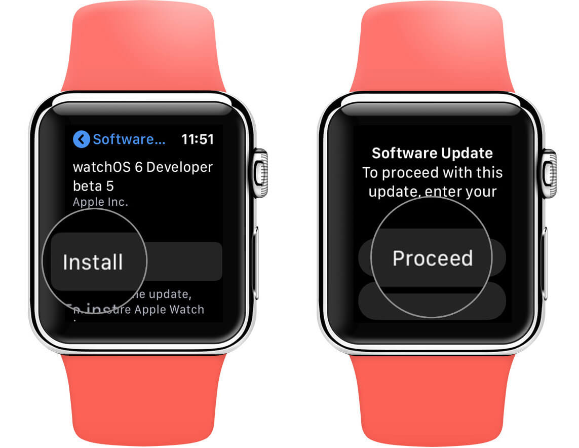 Tap on Install and then Proceed to Update WatchOS Directly on Apple Watch