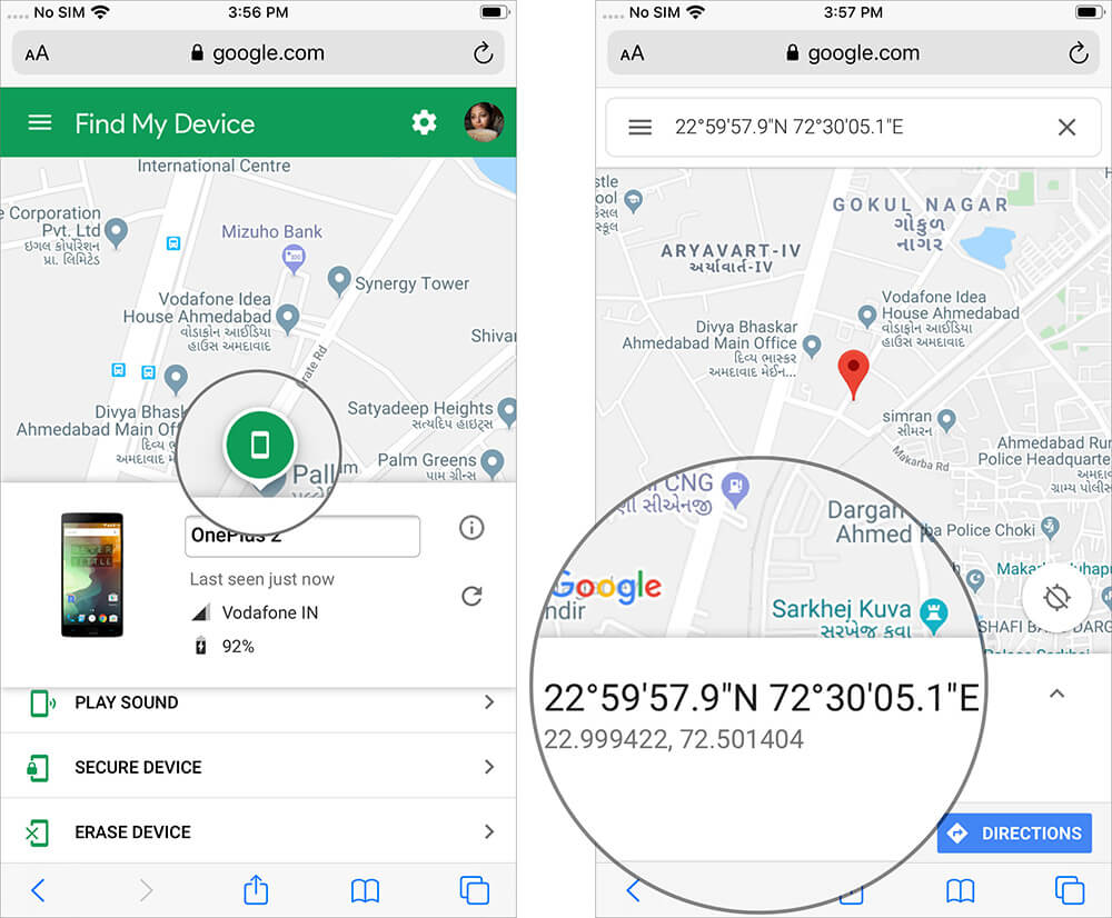 Tap on Location Tag to Display Device's Coordinates on iPhone