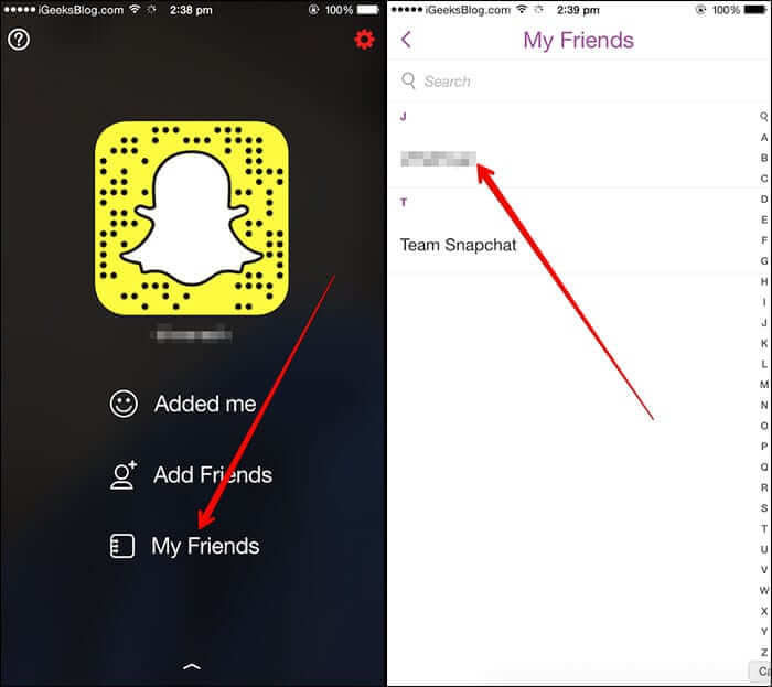 Tap on My Friend Then Select Name of Friend to Edit
