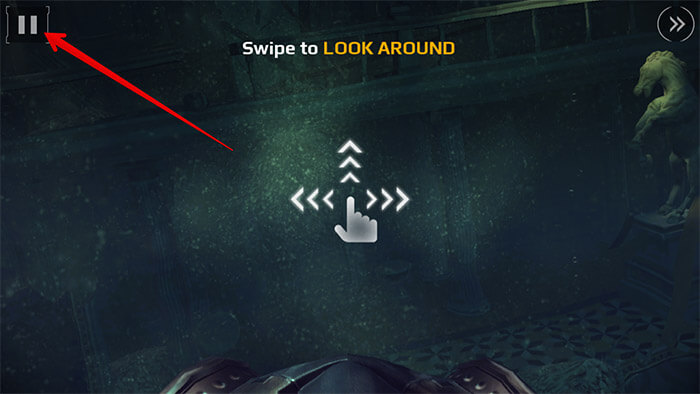 Tap on Pause Button While Playing Game on iPhone