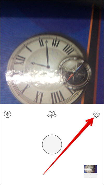 Tap on Settings Icon in Prisma iPhone App