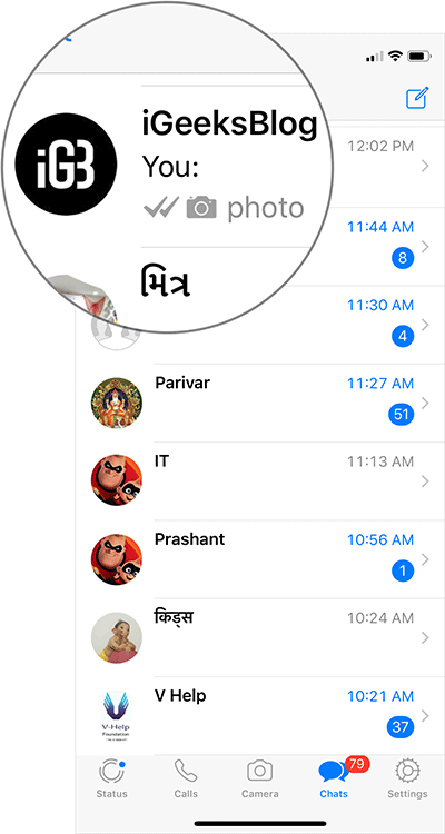 Tap on WhatsApp Group Name