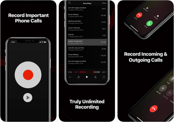 TapeACall - Call Recorder iPhone and iPad App Screenshot