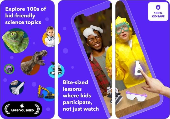 Tappity K-5 iPhone and iPad Science app screenshot