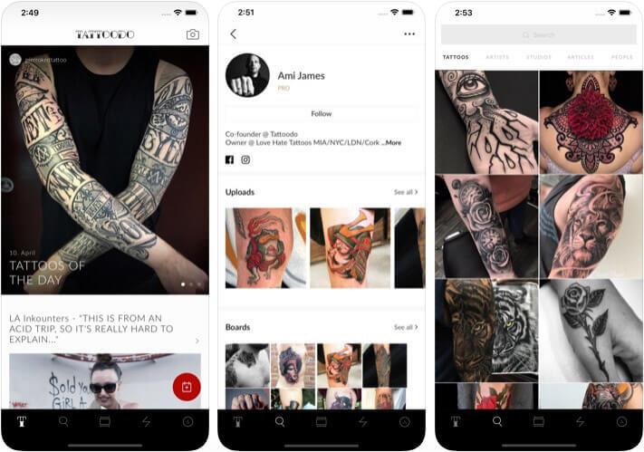 Tattoodo Design iPhone and iPad App Screenshot