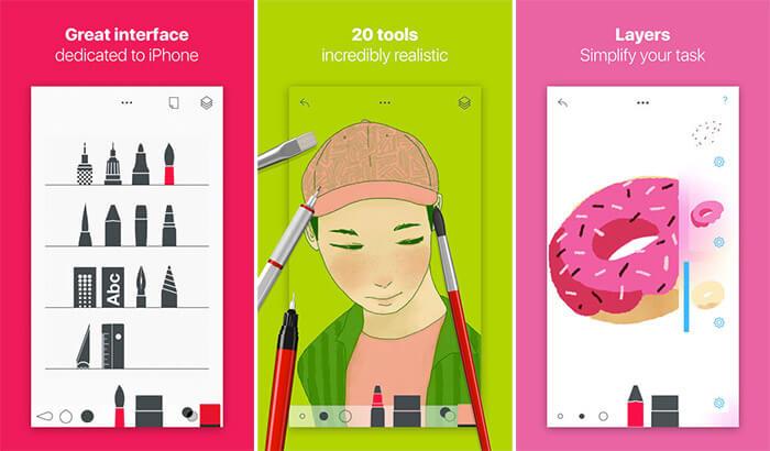 Tayasui Sketches iPad Pro App Screenshot