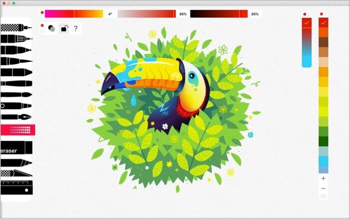 Tayasui Sketches mac drawing app