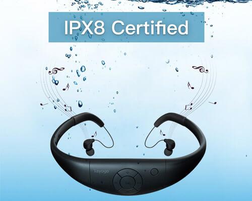 Tayogo Waterproof Wireless Headphones for Swimming