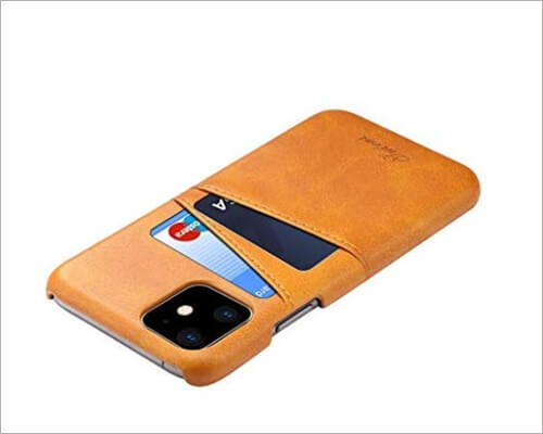 TeaBoy Synthetic Leather Card Executive Case for iPhone 11