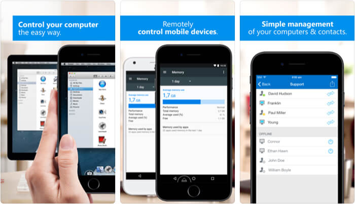 TeamViewer Remote Control iPhone and iPad App Screenshot