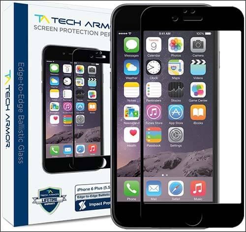 Tech Armor Premium Edge to Edge iPhone 6 Plus Glass Screen Protector