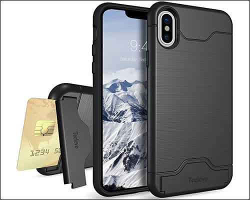 Teelevo iPhone Kickstand Case for iPhone X